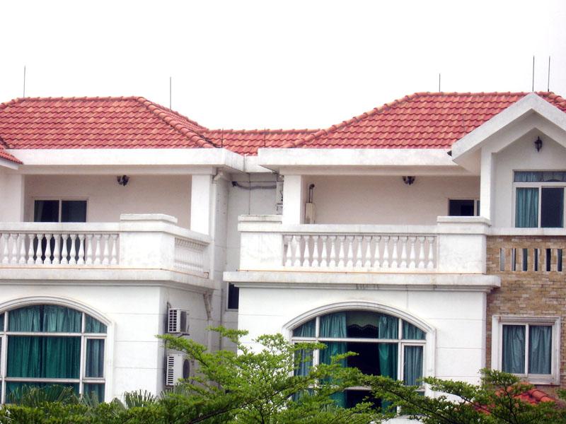 别墅琉璃瓦屋顶造型图